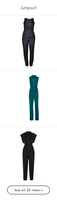 """Jumpsuit"" by bklana ❤ liked on Polyvore featuring jumpsuits, dresses, rompers, playsuits, one piece, bottoms, black, lace, sleeveless y playsuit jumpsuit"