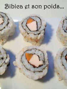 Makis inversés poulet et carottes de Mr Bibi