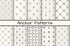 Seamless Patterns: 20 kostenlose Anker-Muster