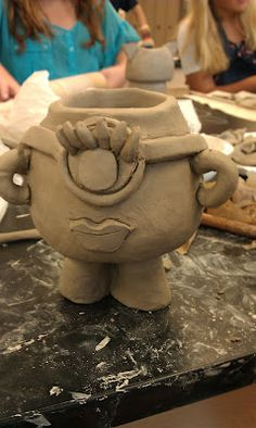 Art with Mrs. Withem: 8th grade ceramics- Monster Planters