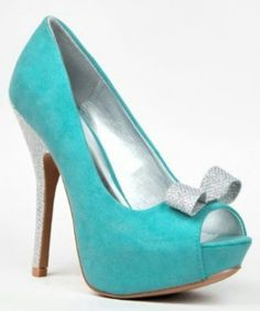 Tiffany blue and silver bow