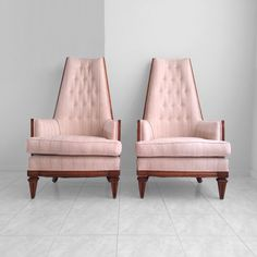THESE! Shipping is only 160!!!  2 mid century french REGENCY tufted tall back arm chairs by misovintage on Etsy https://www.etsy.com/listing/234277826/2-mid-century-french-regency-tufted-tall