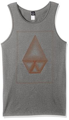 22bba55f44711a Volcom Men s Sound Maze Tank Top  Feel the stone and the breeze. Basic fit tank  top with soft hand screen print featuring neck and arm hole binding