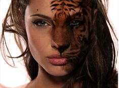 Half tiger Half human by - Sauvage Dior - Ideas of Sauvage Dior - Half tiger Half human by Clash Of The Titans, Photoshop, Full Face Makeup, Animal Faces, Double Exposure, Mythical Creatures, Character Inspiration, Illusions, Illustration