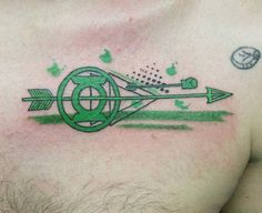 Green Lantern, Green Arrow tattoo, lmao these dorks' bromance