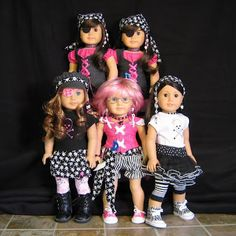 Website with severval inspirational ideas for doll outfits and costumes
