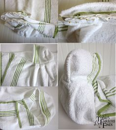 Hooded bath towel tutorial.  These are my favorite!!
