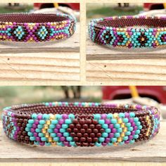 Peyote Stitch Beaded Bangles (Various) by Beyond Buckskin Boutique