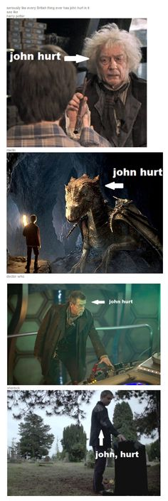 "the-art-of-fangirling: "" seriously like every British thing ever has john hurt in it see like harry potter merlin doctor who sherlock "" Johnlock, Baker Street, Martin Freeman, Sherlock Holmes, Sherlock Fandom, Narnia, Benedict Cumberbatch, Supernatural, Mrs Hudson"