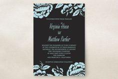 Floral Flirtation Wedding Invitations by Paper Dahlia at minted.com