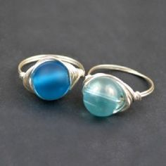 Wire-wrapped rings