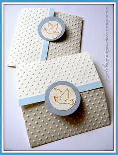 la cascina creativa: Card abbinate per due Cresime