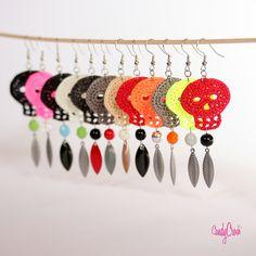 crochet Skulls earrings
