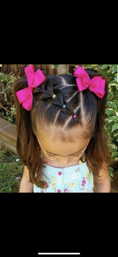 Little Miss Anneliese wanted pigtails today so ofcourse I couldn't just do simple ones I did a side part and made a little pull through braid and ended it with pigtails Little Girl Hairdos, Girls Hairdos, Lil Girl Hairstyles, Princess Hairstyles, Braided Hairstyles, Teenage Hairstyles, Trendy Hairstyles, Pigtail Hairstyles, Simple Girls Hairstyles