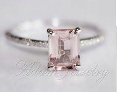 Pink Morganite & diamonds ring.