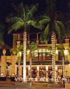 Vergina Restaurant on 5th Avenue  in Naples, Florida. A popular night spot.