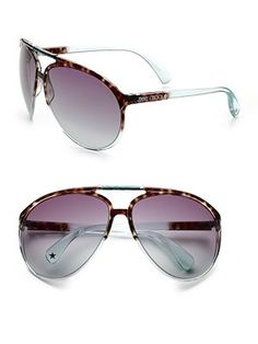 Available in havana aqua with gray gradient lens or havana violet with brown gradient lens. Logo temples Logo etched lens UV protection Made in Italy Purple Accessories, Purple Jewelry, Temple Logo, Aster, Jimmy Choo, Lens Logo, Aqua, Bling, Sunglasses