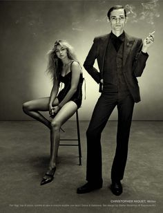 """sand-snake-kate: """"Gigi Hadid and Christopher Niquet by Steven Meisel for Vogue Italia March 2015 """" Steven Meisel, Gigi Hadid, Alchemy, Christopher Niquet, Celine, Upscale Menswear, Portrait Photography, Fashion Photography, White Photography"""