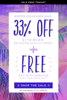 Winter Clearance Sale! 33% OFF SITEWIDE + Free Gift