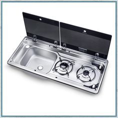 Smev 9722 - Dometic Slimline Combination Hob and Sink for camper vans, motorhomes and caravans Kombi Trailer, Cargo Trailers, Camper Trailers, Interior Trailer, Teardrop Trailer Interior, Accessoires Camping Car, Ducato Camper, Water Plumbing, Classic Campers