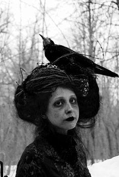 Efimov Bros. Lady with à crow                              …