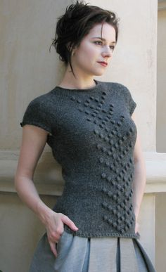 """Camden"" #free #knit pattern by Ashley Adams Moncrief, published in Knitty Fall 2008"
