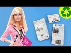 How to Make a Realistic Doll Newspaper - Easy Doll Crafts - YouTube