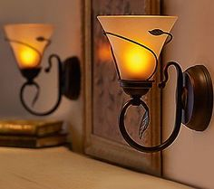 I purchased this set of two Candle Impressions Melted Wax Flameless Wall Sconces with Timer (Item from QVC a few years ago. I love them because they run on a batteries, require no wiring, … Black Wall Sconce, Vintage Wall Sconces, Indoor Wall Sconces, Bronze Wall Sconce, Rustic Wall Sconces, Bathroom Wall Sconces, Led Wall Sconce, Candle Wall Sconces, Battery Operated Wall Sconce