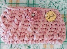 Pochette in crochet firmato borseefilati crochet