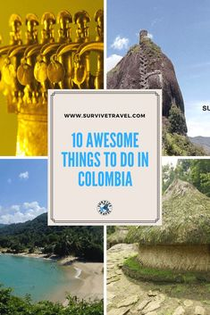 Discover 10 awesome things to to in Colombia #travel #colombia https://www.survivetravel.com/things-to-do-colombia Travel Colombia Cartagena, Travel Colombia Bogota, Travel Colombia Tips, Travel Colombia Posts, Travel Colombia Medellin PIN THIS FOR LATER!