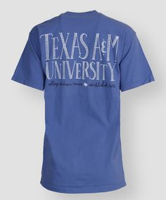 Texas A&M Comfort Colors T-shirt #AggieGifts #AggieStyle