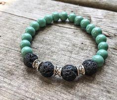 $17.60 Essential Oil Diffusing Stretch Bracelet Lava by LisaCreativeNook
