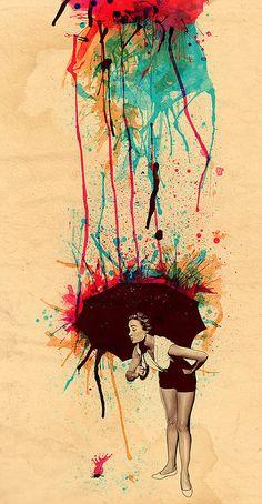 Matheus Lopes, beautifully handled watercolor illustrations