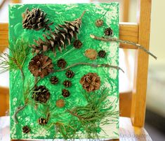 Pine Tree Art - an art project for kids to create collaboratively