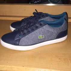 c051024161 Shop Women's Lacoste Blue size 8 Sneakers at a discounted price at Poshmark.