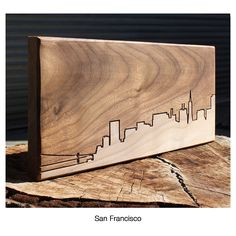 CITY SKYLINE WOODEN ROUTING | California, San Francisco, New York City, Las Angeles, Urban, Contemporary, Modern, Wall Decor | UncommonGoods