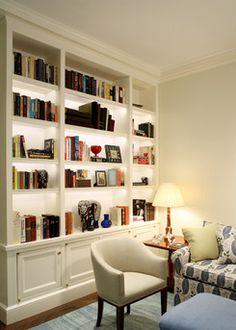 Love the backlit bookshelves!