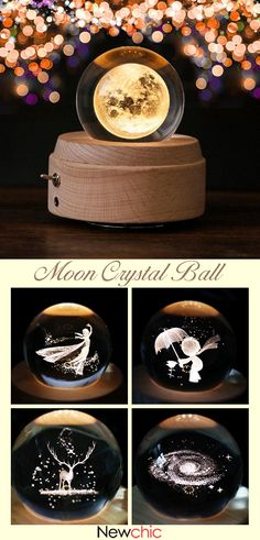 【58% off】Moon Crystal Ball Wooden Luminous Music Box Rotary Innovative Valentine's Day Christmas Gift.#decor #gifts #mooncrystalball 31 Gifts, Craft Gifts, Cool Gifts, Christmas Music, Christmas Time, Christmas Gifts, Holiday, Diy Music Box, Music Boxes
