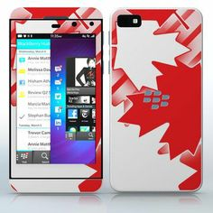 Oh Canada  Canadian Maple Leaf pattern  phone skin sticker for Cell Phones / Blackberry Z10 | $7.95