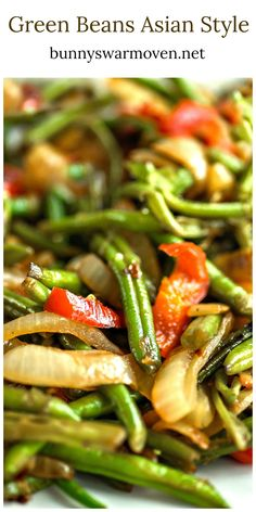 Green Beans Asian Style – Beautifully caramelized onions and peppers are sweet to the taste and make the green beans just that much better. Green Beans Asian Style My husband Paul plants green beans in our garden twice a year during the growing season in Kentucky. The harvest is more than enough to fill our …