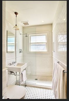 Open shower in the small master bathroom?