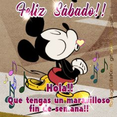The perfect FelizSabado MickeyMouse Animated GIF for your conversation. Discover and Share the best GIFs on Tenor. Happy Week, Happy Saturday, Saturday Quotes, Hello Quotes, Happy Birthday Flower, Weekday Quotes, Morning Thoughts, Good Morning Flowers, Mini Mouse