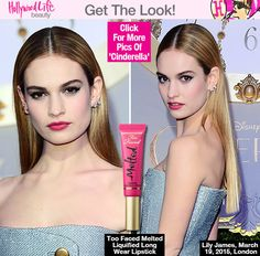 Lily James: Pretty Pink Pout At London 'Cinderella' Premiere