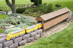 Many people enjoy both gardening and model trains.  I wrote an article on my blog about setting up a garden railroad to provide some basic information on the topic. Along with landscaping, I too am a fan of model railroads.  I wish I had the time to set up a model train in my garden! That would be awesome!