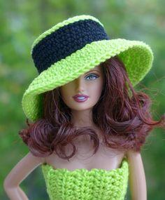 Kostenlose Häkelanleitung Für Barbie Kleid Und Hut Barbie Clothes