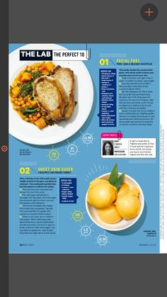 This is alignment because you can see the text wrapping around the plates. Recipe Book Design, Cookbook Design, Magazine Page Layouts, Magazine Layout Design, Editorial Layout, Editorial Design, Typography Magazine, Page Layout Design, Magazin Design