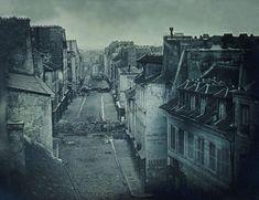 Barricades rue Saint-Maur. Avant l'attaque, 25 juin 1848. Après l'attaque, 26 juin 1848