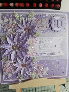 Flower Cards, Paper Flowers, Chloes Creative Cards, Stamps By Chloe, Birthday Cards For Women, Handmade Cards, Cardmaking, Card Ideas, Projects To Try