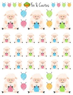 Cute Knitting Pastel Sheep Yarn Craft Lamb Sticker by FoxAndCactus