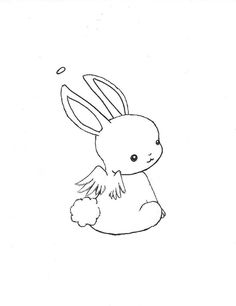 Kawaii+animal+drawing | Chibi Bunny Angel by ~Escargotgirl on deviantART